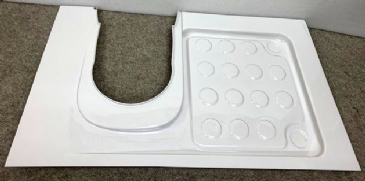 Caravan/Motorhome Shower Tray C220 LH (To Suit Thetford C223CS C224CW Cassette Toilets)